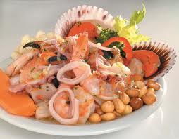 Receta de Ceviche de Langostino ,Cangrejos y Calamar