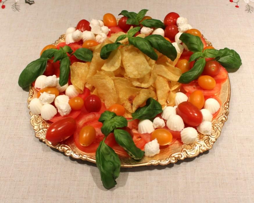 Receta de ensalada caprese navideña