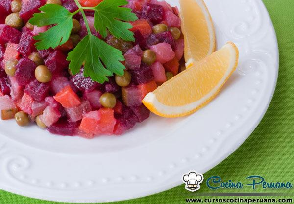 recetas de ensalada rusa peruana