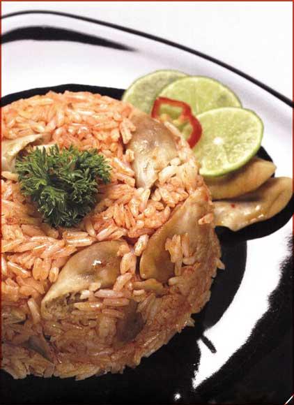 Receta de arroz con machas y almejas