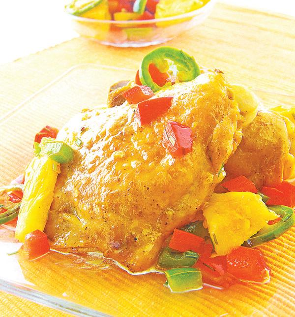Receta de pollo exotico
