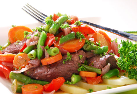 Receta de Carne con Verduras