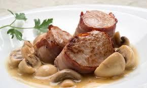 Receta Cerdo en Salsa de Hongos