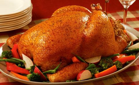 Pollo al horno glaseado