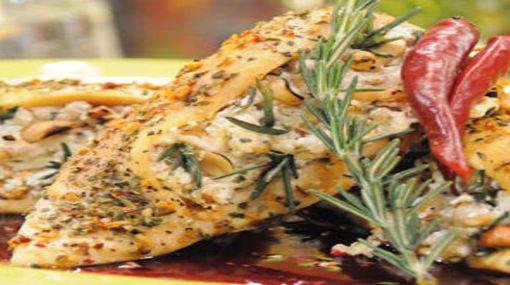 Receta de filete de pollo con hiervas frescas