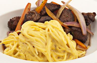 Receta  Espaguetis con huancaina