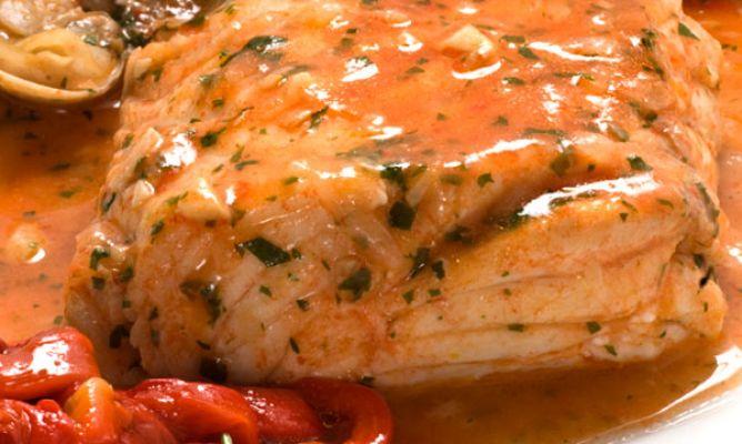 Receta Pescado salsa de Pimientos
