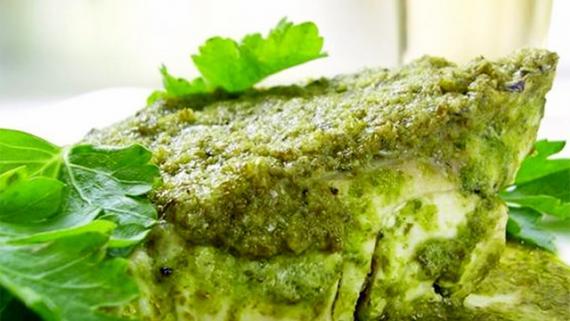 Receta de Corvina en salsa verde