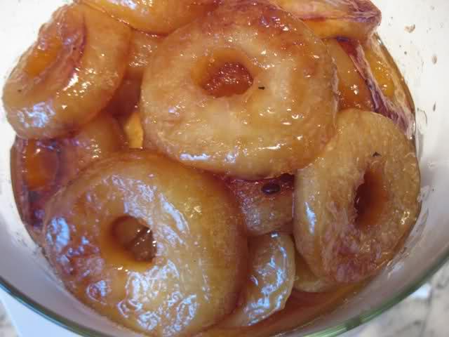 Receta de Manzanas glaseadas con Miel