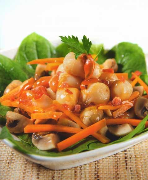 Receta  Conchitas en crema de verduras