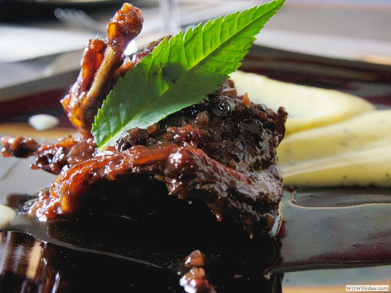 Lomo en salsa de arandanos y sauco