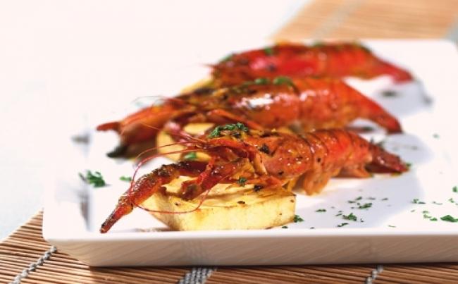 Receta camarones enteros marinados