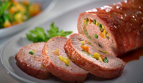 Enrollado de carne molida y chorizo