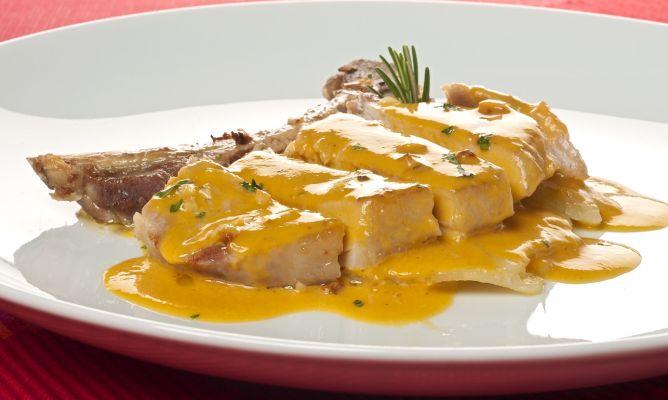 Receta pollo en salsa de lúcuma