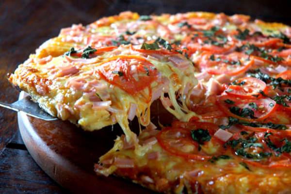 Receta de pizza de tallarines