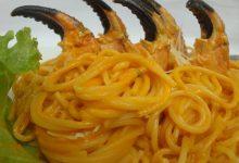 Receta Espagueti con salsa de rocoto y cangrejos