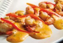 Receta Langostinos en salsa de queso