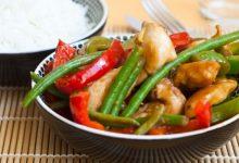Receta de pollo saltado con verduras