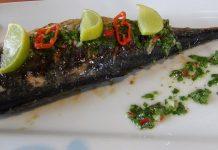 Receta de pescado con chimichurri