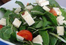 Receta de ensalada acelga con queso