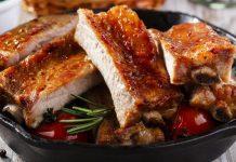 Cerdo en salsa de miel y mostaza